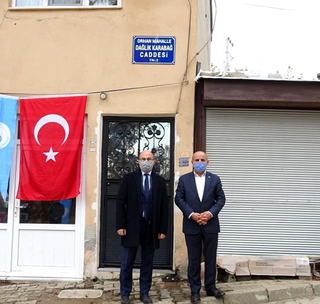 Büyükorhan'dan caddeye 'Dağlık Karabağ' ismi