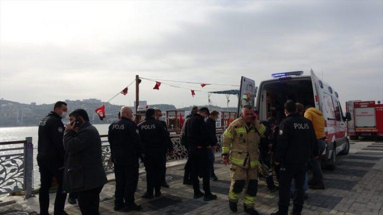 Bursa'da denize düşen kadın, son anda kurtarıldı