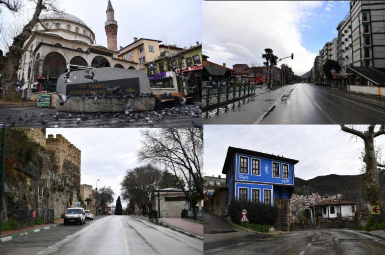 Osmangazi sokaklarında sessizlik hakim